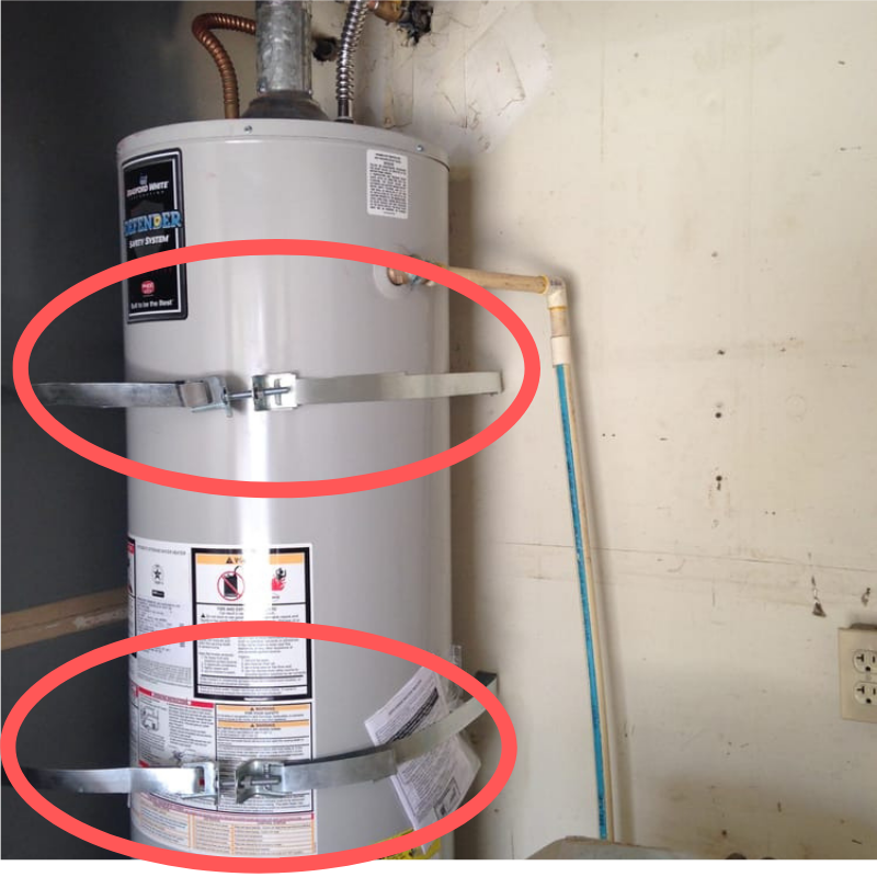 Water Heater With Earthquake Straps Mike Petrillo